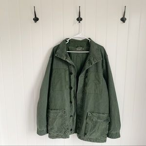 Converse Jack Purcell Green Canvas Utility Jacket